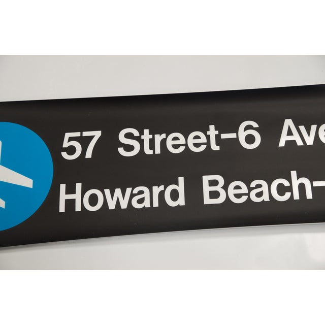 """Image of Vintage New York """"Train to the Plane"""" Subway Sign"""