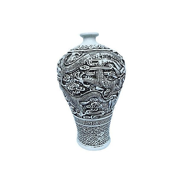 Chinese Sculpted Dragon Vase - Image 6 of 6