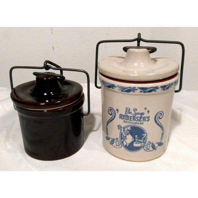 Vintage Latch Top Crock Jars- Set of 6 - Image 5 of 5