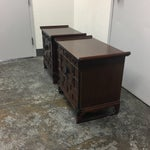 Image of Asian Side Tables or Nightstands- A Pair