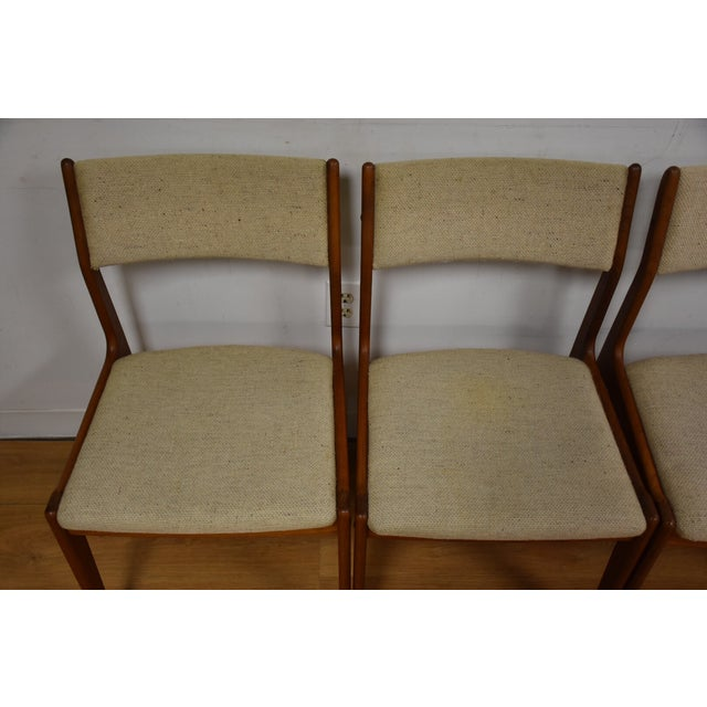 Teak Dining Chairs - Set of 4 - Image 3 of 11