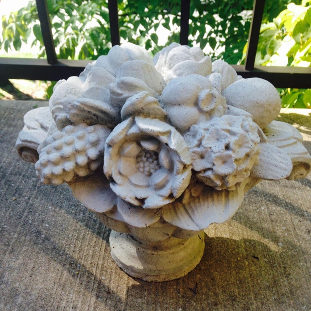 Image of Antique Garden Ornament Stone Bouquet