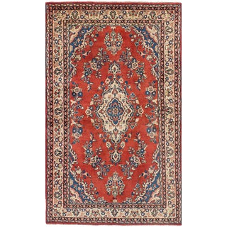 "Mahal Vintage Persian Rug, 4'2"" x 7'2"""