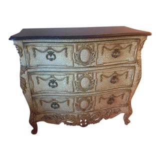 French Provincial Style Chest With Marble Top