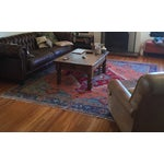 Image of Persian Hand-Knotted Blue Rug - 8' x 11'