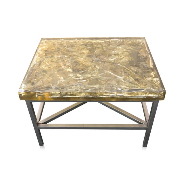 """Modern """"Shattered Dreams"""" Cracked Resin Coffee Table"""