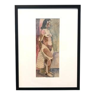 Jason Schoener Nude Watercolor Painting