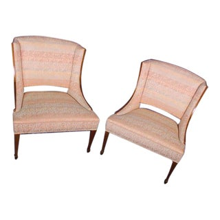 Modern Fruitwood Side Chairs - A Pair