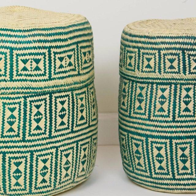 Green Handmade Oaxacan Jarrito Basket - Image 3 of 4