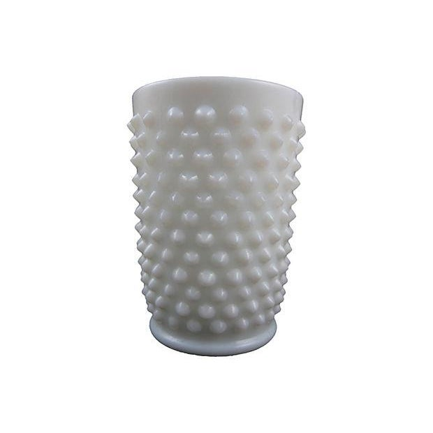 Image of Fenton Hobnail Milk Glass Beverage Service - 5
