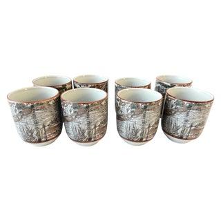 Asian Tea Cups - Set of 8