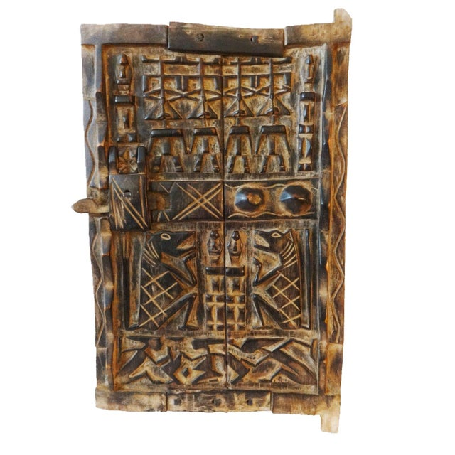 Mali African Dogon Door with Figures - Image 2 of 6