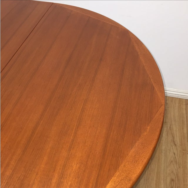 Danish Modern Dinning Table With Leaf - Image 5 of 5
