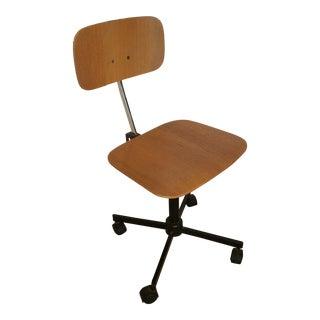Jørgen Rasmussen Kevi Bent Plywood Desk Chair Made in Denmark Danish Modern