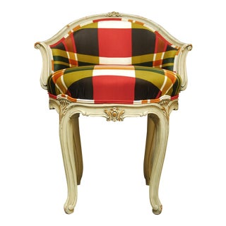 Louis XV Style Painted Boudoir Vanity Stool