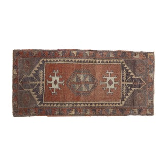"Traditional Vintage Oushak Runner - 1'8"" x 3'7"""