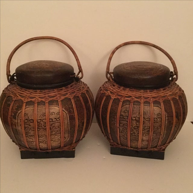 Chinese Baskets- A Pair - Image 2 of 3
