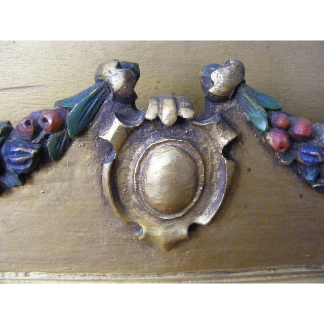 1920s Vintage Italian Carved Guilded Wooden Tole Letter Holder - Image 6 of 8