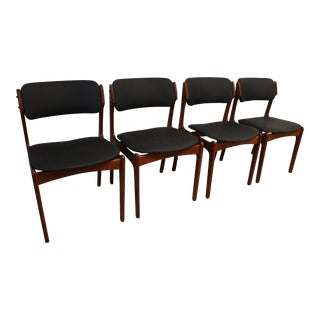 Erich Buch Danish Modern Dining Chairs - Set of 4