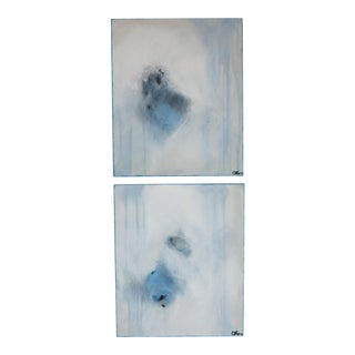 Blue Serenade, I & II Original Oil and Pastels by C. Damien Fox - A Pair