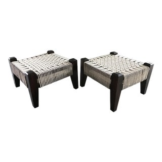 Handwoven Low Stools – A Pair