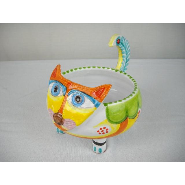 Image of Mid-Century DeSimone Ceramic Cat Bowl