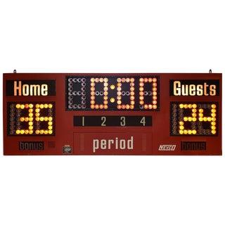 1980's Nevco Basketball Scoreboard