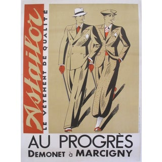 Original 1935 Art Deco Fashion Poster - Astailor
