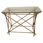 Image of Antique Gold Painted Bamboo Occasional Table