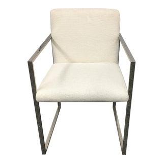 New Palecek Stainless Steel Atlantic Arm Chair