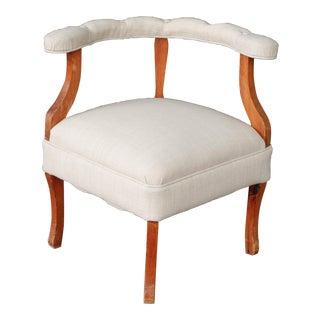 Vintage Upholstered Corner Chair