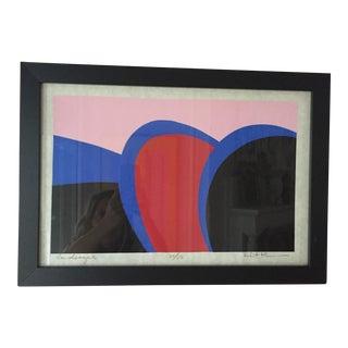 Framed Graphic Bold Silkscreen Print