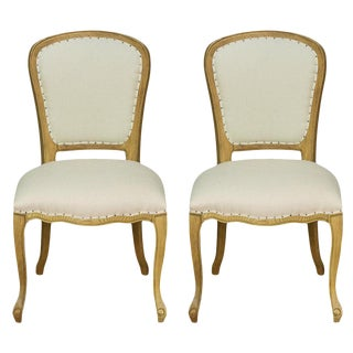Sarreid Ltd Louis XIV Side Chairs - A Pair