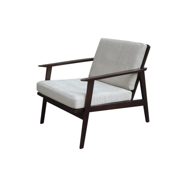Restored Danish Modern Style Armchair - Image 1 of 11