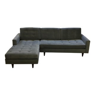 Custom Mid-Century Style Tufted Sectional
