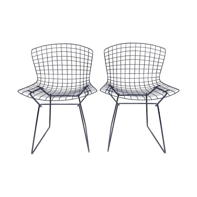 Harry Bertoia Black Side Chairs - Pair - Image 1 of 7