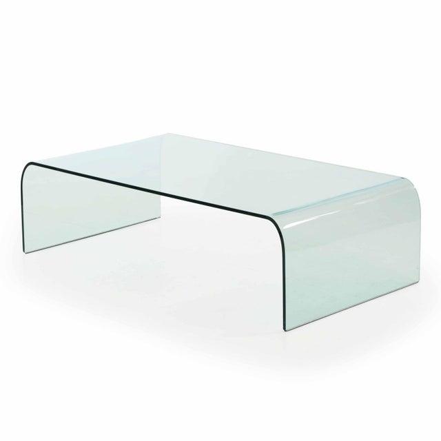 Angelo Cortesi For Fiam Italia Modern Waterfall Glass Coffee Table Chairish