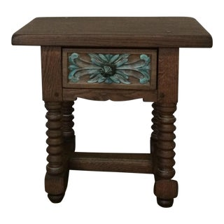 Painted Floral Accent Table