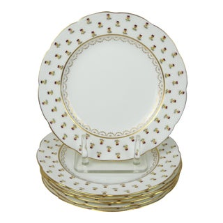 Mintons Pansy Dinner Plates, S/6
