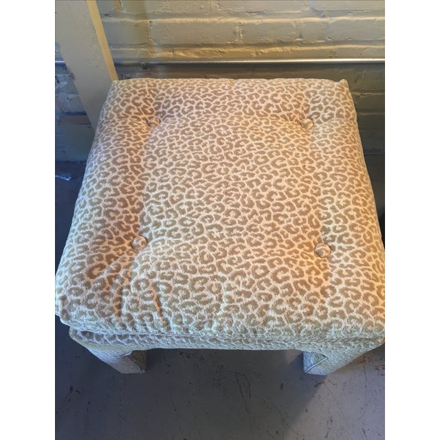 Scalamandre Leopard Print Bench/Ottoman - Image 4 of 5