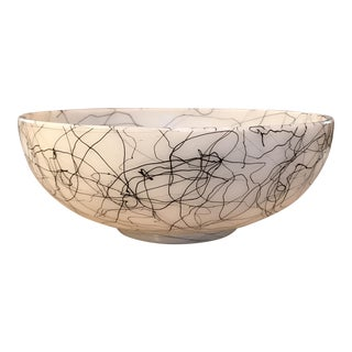 Handblown Milk Glass Modernist Bowl