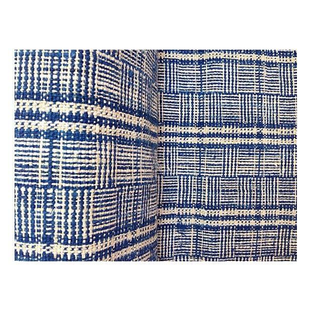Homespun Nubby Plaid Fabric Textile - 7 Yards - Image 4 of 4