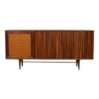 Mid-Century American Modern Walnut Sideboard & Dry Bar
