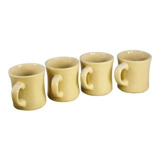 Vintage Off White Ironstone Diner Mugs - Set of 4