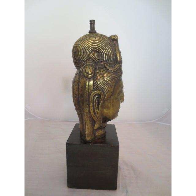 Large Brass Buddha Head - Image 3 of 6