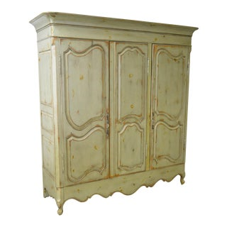 Habersham Plantation Large French Louis XV Style 3 Door Armoire
