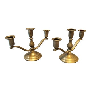 Pair of Field Pewter Candle Holders