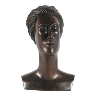 20th Century Bronze Bust by Warren Snodgrass