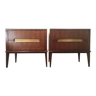 Brownstone Madison Walnut Nightstands - A Pair