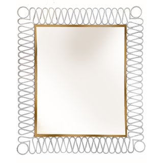 Vintage Jacques Adnet French Mirror